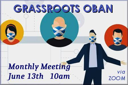 Grassroots Meeting via Zoom Sat 10th June