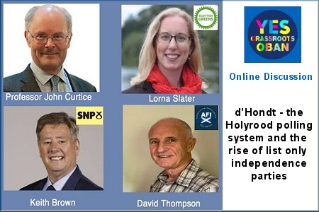 d'Hondt – The Holyrood Polling System & the Rise of List Only Independence Parties